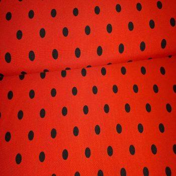 bedrukte terlenka - stippen rood-0