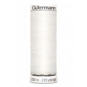 gutermann 200mtr - wit 800-0