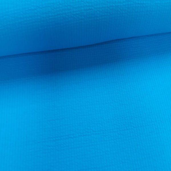 gebreide katoenen stof - aqua-0