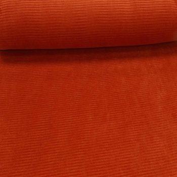 rib velours - roest / oranje -0